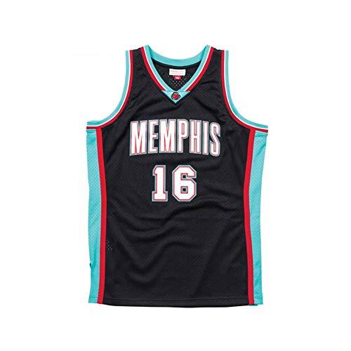 Camiseta de Baloncesto NBA para Hombre, Retro Jersey Swingman Basketball Camisetas, 16 PAU Gasol, Chaleco de Gimnasia Top Deportivo Ropa, S-XXL, Z030MK (Size : XL)