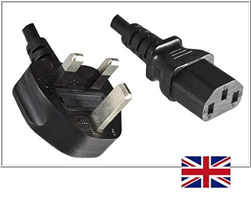 DINIC stroomkabel, netsnoer voor UK Engeland type G op C13 koude apparaten 1,00m zwart