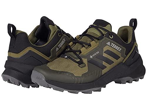 adidas Terrex Swift R3 Gore-TEX Hiking Shoes Focus Olive/Core Black/Grey Five 10.5 D (M)