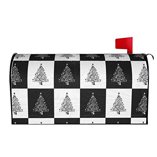 Fonsisi Christmas Tree Magnetic Mailbox Cover, Superior Weather Durability Letter Post Box Cover Wrap Decoration for Welcome Home Garden Outdoor
