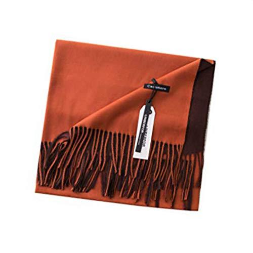 Sciarpa di cachemire Pashminas avvolgere scialle caldo lana morbida nappa solido bifacciale colore unisex uomo donna amanti signore sciarpe per l'autunno inverno primavera