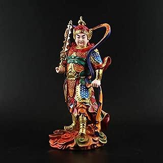 Statues-Li 1 pcs Sangharama Bodhisattva, Resin Painting Guan Gong, Buddha Statues, Dharma, Wealth, Peace Sculpture Resin Craft Decoration (Color : W)