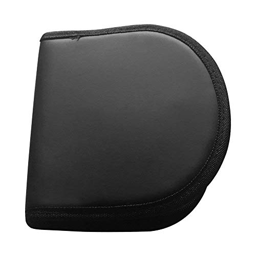 Nylon Zippered CD/DVD Wallet/Storage Case, Portable 12 CD/DVD Disc Storage Case Bag, CD/DVD Wallet for Car, Home, Office and Travel, Nylon CD/DVD Wallet - Holds 12 Discs.