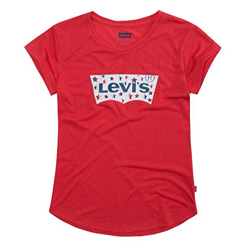 Levi's Girls' Little Batwing T-Shirt, Poinsettia, 6X