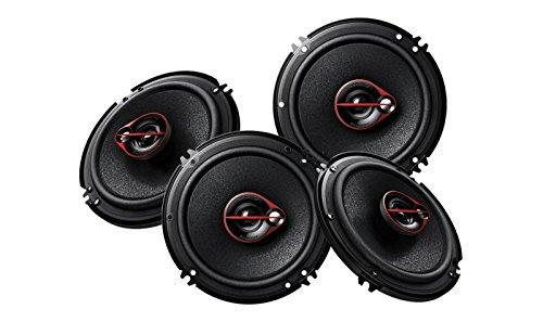 Pioneer TS-R1651D-2 Coaxial 6 inch Car Speaker (2 pairs-4pcs, Black)