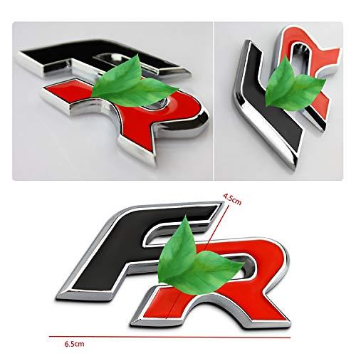 YEE PIN FR Emblem Seat Metall Abzeichen Emblem Aufkleber für Ibiza/Tarraco/Leon/Ateca/Arona Car Styling Dekorative Zubehör (Rear sticker)