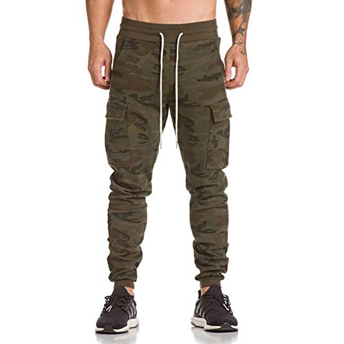 Hombre Pantalón Deportivo Jogger Militar Camuflaje Estilo Urbano Pantalones Casuales para Hombre Chándal de Hombres