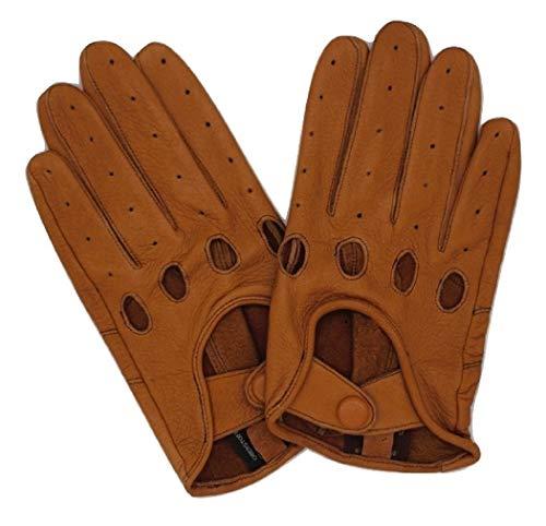 Premium Auto-Handschuhe aus 100% Hirschleder/ungefütterte Autofahrerhandschuhe Hirschleder/ungefütterte Auto Lederhandschuhe/Motorrad Handschuhe