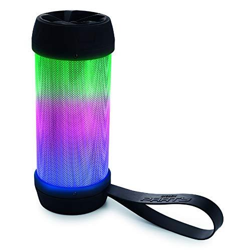 Bigben Interactive PARTYBTMINI Tragbarer Lautsprecher 20 W Schwarz, Transparent - Tragbare Lautsprecher (20 W, Verkabelt & Kabellos, Mikro-USB, Schwarz, Transparent, Universal, USB)