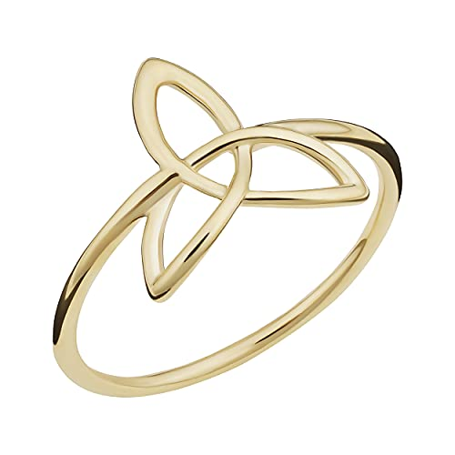 14k Yellow Gold Celtic Trinity Knot Ring (size 7)