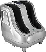 Shiatsu Heated Foot and Calf Massager Machine to Relieve Sore Feet, Ankles, Calfs and Legs, Deep Kneading Therapy, Relaxation Vibration and Rolling & Stimulates Blood Circulation (Gray)