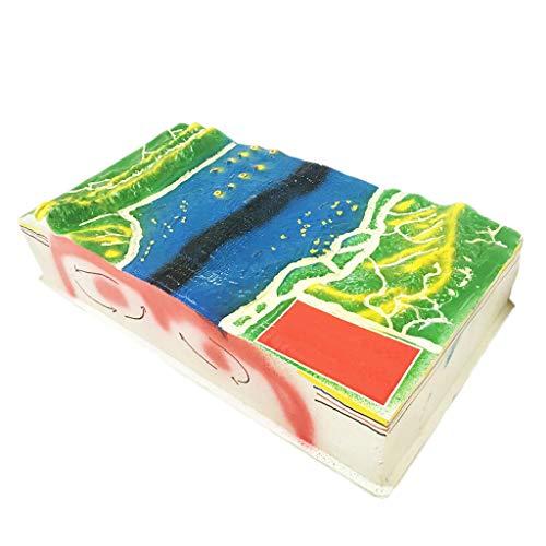 LUCKFY Material didáctico de Clase de geología Escolar - Kit de exhibición de Modelo de tectónica de Placas de Tierra 3D - Juguete de Ciencia de Estructura cuboide para niños o Estudiantes