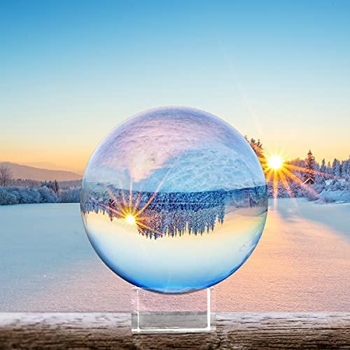 FACIACC Bola de Cristal K9 de 80 mm con Soporte, Esfera de...