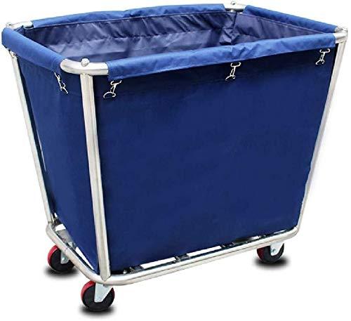 Mr.T Service Auto Startseite Wäsche Sorter Mehrzweckwagen mit Abnehmbarer Tasche, Heavy Duty Servierwagen auf Rad for Hotel Industrie Reinigung Auto (Color : Blue)