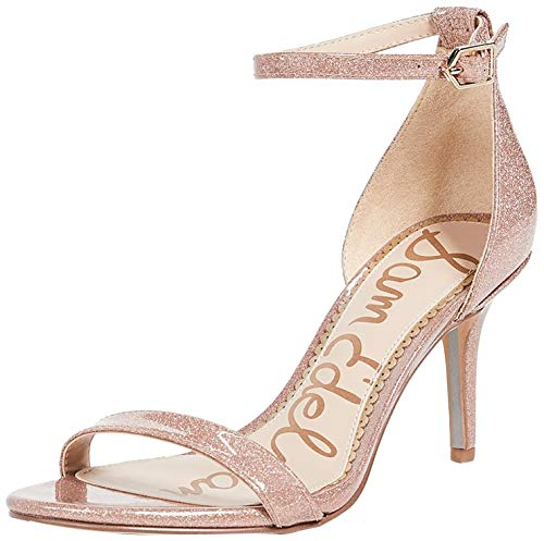 Sam Edelman Patti Ankle Strap Heeled Sandal Classic Nude Leather 12