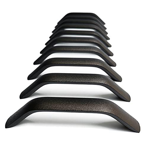 10 Stück Küchengriffe Schwarz Küchenschrank Türgriffe Küche Schrank ziehen Bohrlochabstand, Lochabstand 160mm (Matt-schwarz)