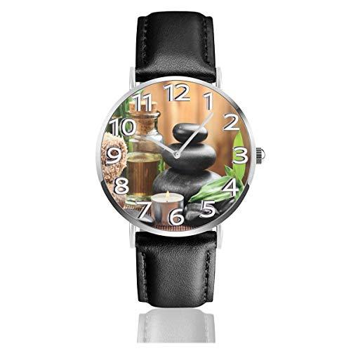 Massage Stein Drillinge Kräuter Duftkerzen Lederuhr Unisex Mode Armbanduhren Quarzuhr tragen Uhren