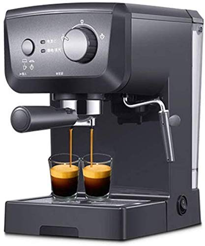 TANGIST Domestic Espresso Coffee Machine Maker 15 Bar, Capuccino, Frothing Milk Foam, 1050W, Capacity 1.25L Removable Drip Tray Steam Nozzle for Preparing Hot Drinks