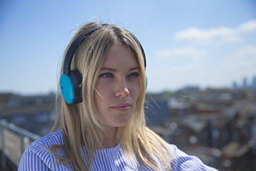 JVC HA-S30BT-A-E Bluetooth On-Ear-Kopfhörer mit kompakter, faltbarer Bauweise, Schwarz/türkis