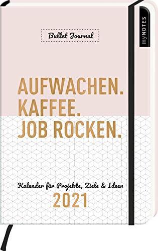 myNOTES Buchkalender DIN A5 Aufwachen. Kaffee. Job rocken. Bullet Journal Kalender 2021