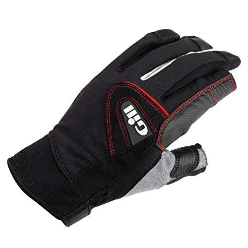 Gill Championship Langfinger-Segelyacht- und Jollenhandschuhe Schwarz - Easy Stretch UV-Sonnenschutz und SPF-Eigenschaften