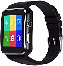 X6 Smartwatch Support Micro SIM Card Camera work with IOS Iphone Android LG Samsung HTC Sony Huawei Smartphones Silver