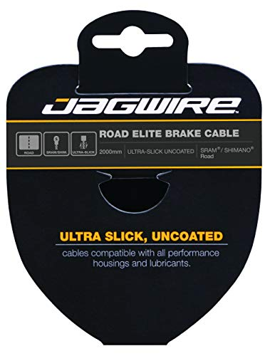 Jagwire – Cable de Freno Carretera – Elite Polished Ultra-Slick Stainless – 1.5 x 2000 mm – SRAM/Shimano 96el2000 Unisex, Gris