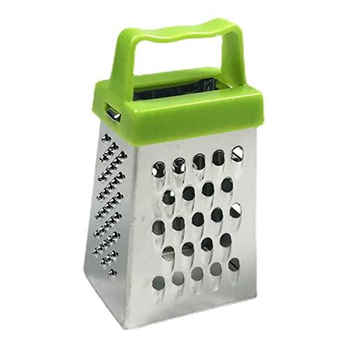 MiTaiyau Rallador De Caja De 4 Caras Reutilizable De Acero Inoxidable Resistente A La Herrumbre Seguro De Queso para La Barra Verde