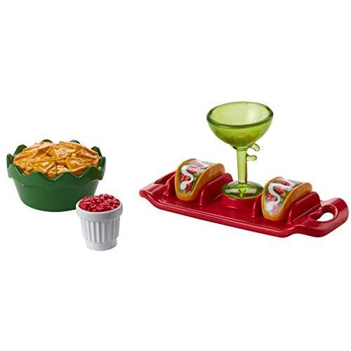 Barbie- Set di Accessori Taco Party Ristorante Messicano, per Bambini 3+ Anni, FHY66