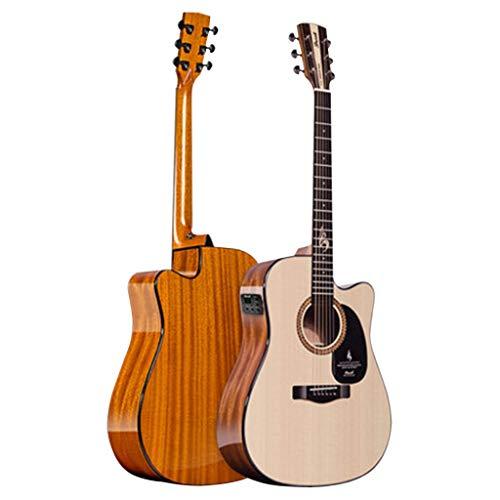Instrumentos musicales Guitarra Guitarra De Una Sola Placa Bruce-S25N-DCG Bajo Eléctrico Concha...