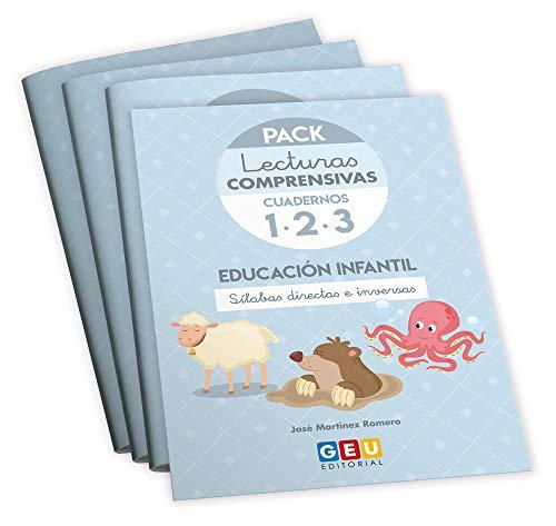 Pack Lecturas Comprensivas/ Educación Infantil/ Editorial Geu/ mejora la Comprensión Lectora/ Recomendado Como Apoyo/ Actividades sencillas (Niños de 3 a 6 años)
