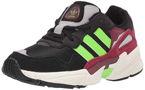 Adidas ORIGINALS Zapatillas de Correr Unisex Yung-96 para niños, Negro/Verde Solar/borgoña universitaria, 4.5 Big Kid
