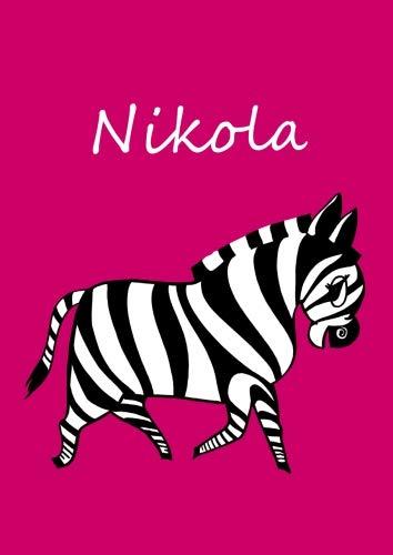 Nikola: individualisiertes Malbuch / Notizbuch / Tagebuch - Zebra - A4 - blanko
