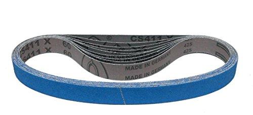 Klingspor CS 411 X Schleifband | 25 x 762 mm | 10 Stück | Körnung: 80