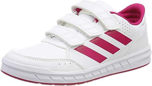 Adidas Unisex-Kinder AltaSport CF Fitnessschuhe, Weiß (Ftwbla/Rosfue/Ftwbla 000), 34 EU