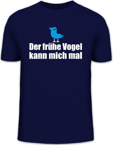 Shirtstreet24, Der frühe Vogel kann Mich mal, Herren T-Shirt Fun Shirt Funshirt, Größe: S,dunkelblau