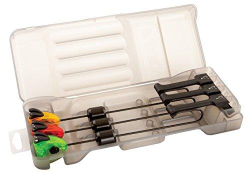 FOX MK3 Swinger 3er Set Bissanzeiger - Pedelbissanzeiger zum Karpfenangeln, Farben: rot, grün, orange, verschiebbares Gewicht & einfach Montage!