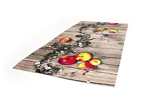 BiancheriaWeb Tappeto Passatoia Cucina Antiscivolo Stampa Digitale Disegno Mele 50x180 Mele