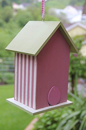Dekorativer (N14) Nistkasten Herz-Rot Vogelhaus-Vogelhäuschen-sauberste Verarbeitung-Vogelhaus Garten Deko - 3