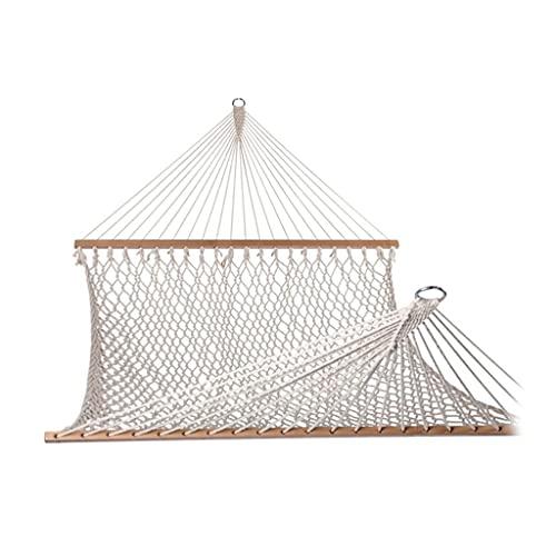 MQH Hamaca Hamaca de Tejido de Malla para 2 Personas Hamaca de Cuerda de algodón Tradicional para Patio Interior Exterior jardín Camping (tamaño : 59in)