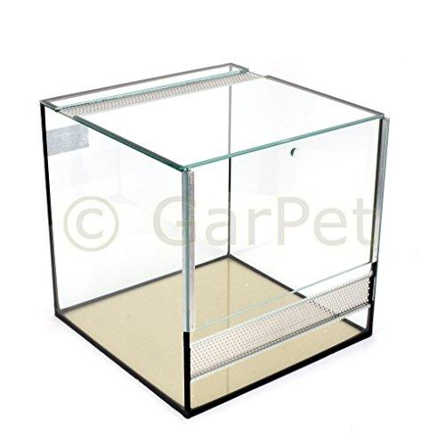 GarPet Glas Terrarium 30x30x30 Glasterrarium Belüftung Reptielien Fall Guillotine Tür