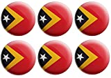 Anstecknadel mit Osttimor-Flagge, Partytütenfüller, Veranstaltungen, Feiern, Sammler, Dekorationen, Sockenfüller (12 Stück)