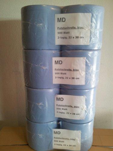 Putztuchrolle Putzrolle Putztuch Putzpapier 8 Rollen von MD 4000 Blatt