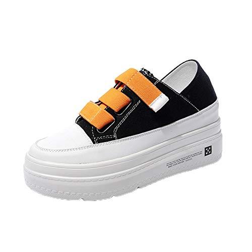 Zapatos Creepers para Mujer, al Aire Libre, Informal, con Gancho para Caminar, en Primavera, otoño, Elegantes, cómodos y cómodos, Zapatos de Lona con Plataforma