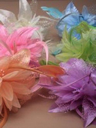 ALANNAHS ACCESSORIES Fascinator de Fleur de Plume de Couleur Pastel sur Le Groupe d'Alice