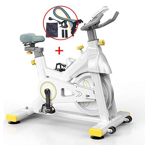 YI'HUI Aparatos de fitness, bicicleta estática de interior, ajustable, sensores de pulso cardíaco, bicicleta profesional para el hogar y el gimnasio