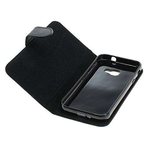 Mobilfunk Krause - Book Hülle Etui Handytasche Tasche Hülle für Samsung SM-G390F / G390F (Schwarz)