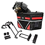 Travelin K9 Pet-Pilot Original Small Dog Bike Basket with Color Options/Comes Assembled Just Install Mount (Red)