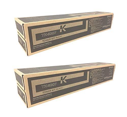 TK8307K Genuine Kyocera Toner Cartridge 2 Pack, 1T02LK0US0, 25000 Page-Yield Per Ctg, Black