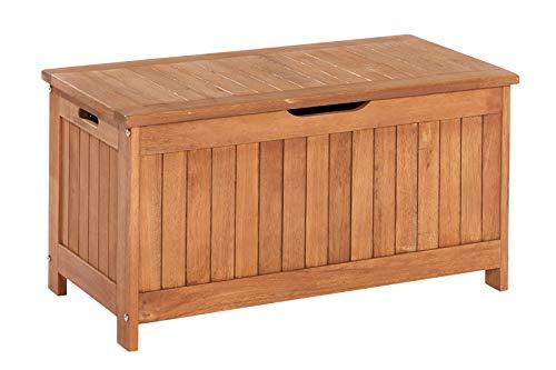 MERXX Kissenbox aus Eukalyptusholz, ca. 88x45x45 cm
